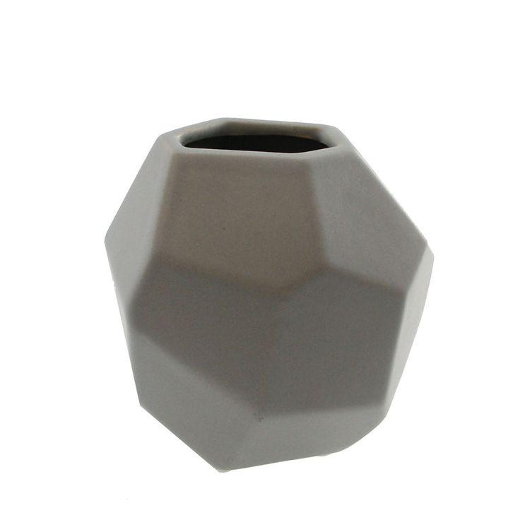 Vase kant grå liten