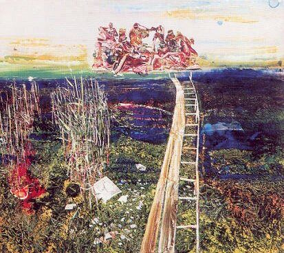 Csernus Tibor: Nádas (1964, olaj, vászon, 134 x 152 cm