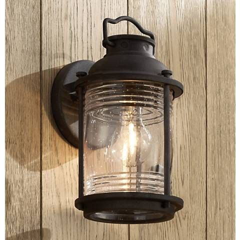 Kichler ashland bay 11h zinc small outdoor wall light