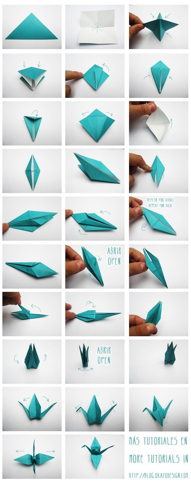 DIY & Crafts: Grullas de Origami