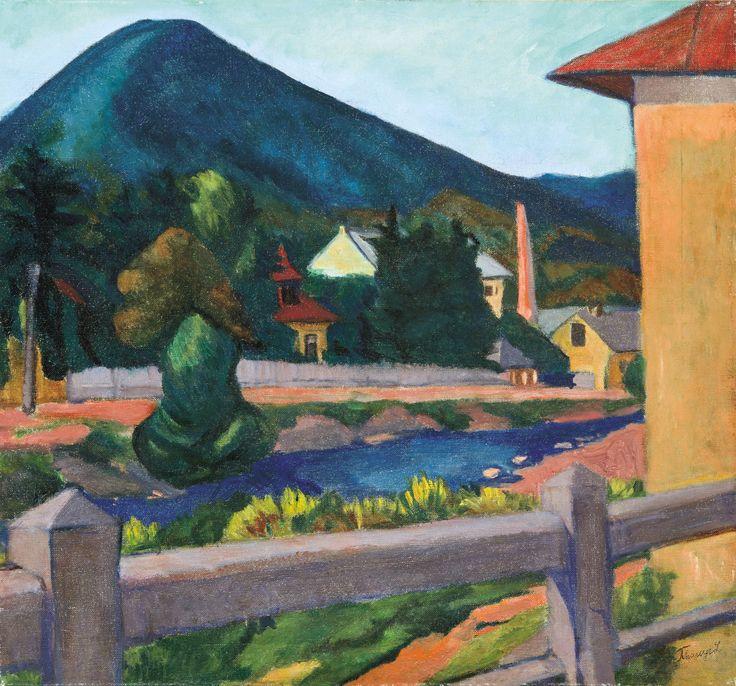 Tihanyi Lajos - Nagybányai táj, 1909.