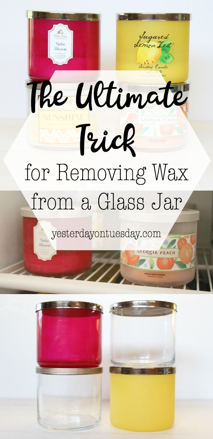 The Ultimate Trick for Removing Wax from a Glass Candle Jar: The simplest way to get rid of candle wax so you can reuse and recycle the glass jar. | candle | wax | removing candle wax | household hack |