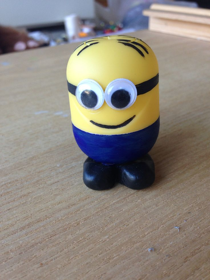 Minion made from kinder egg. I put money in it as a gift.