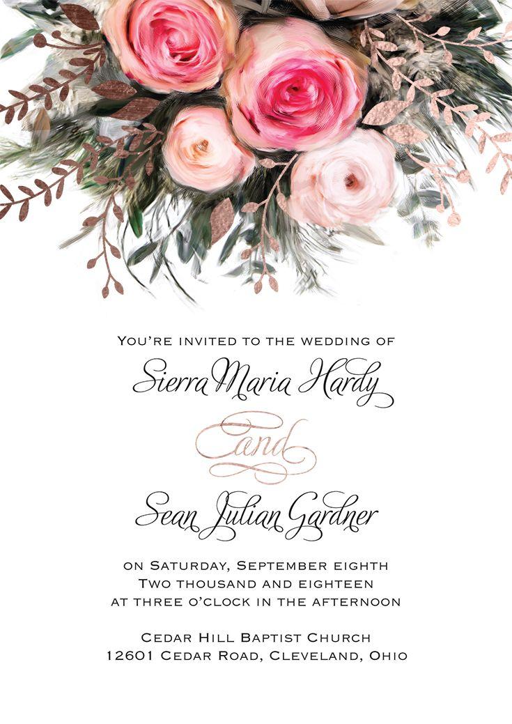Ethereal Garden Foil Invitation 887 best