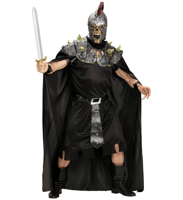 Disfraz de esqueleto romano Halloween para hombre