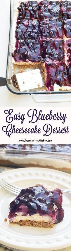 Easy Blueberry Cheesecake Dessert Recipe