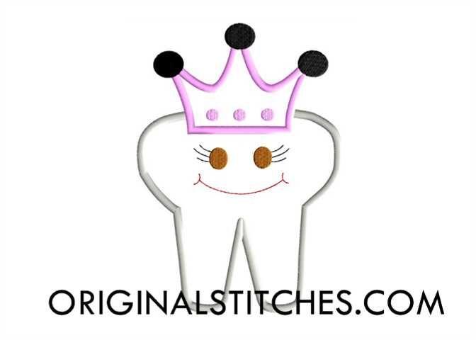 Princess Tooth, Original Stitches