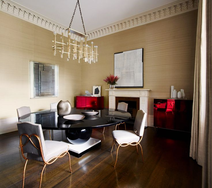 Decorating Dinig Room Table With Brass