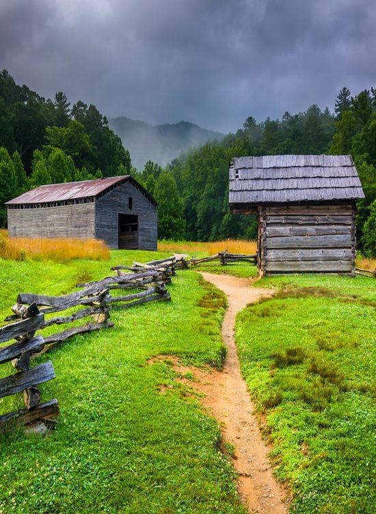 Barns In Smokey Mountains