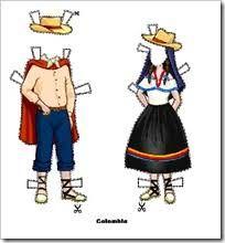 Resultado de imagen para dibujos de trajes tipicos colombianos