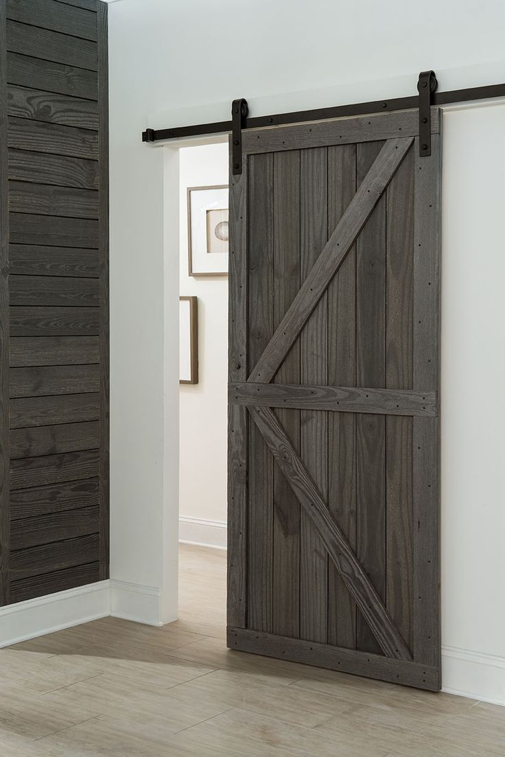 Sliding Barn Door Made From Rustic Prefinished Reclaimed