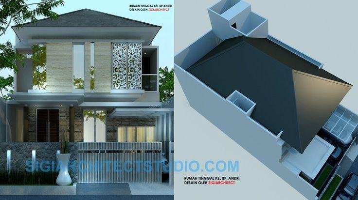 desain rumah 2 lantai tropis minimalis