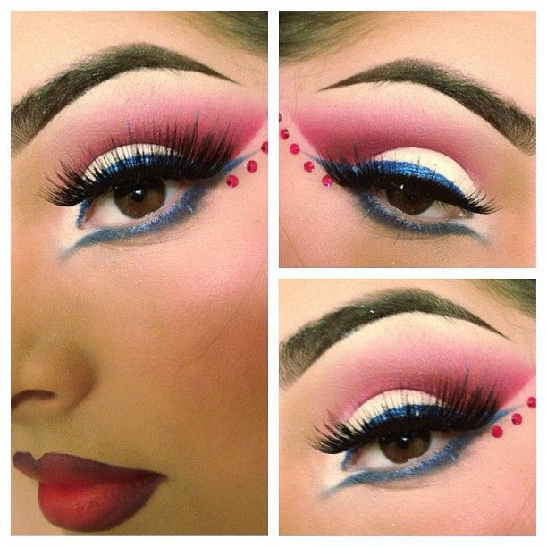 Bellyitch: Bold and Dramatic 4th of July-inspired Eyes