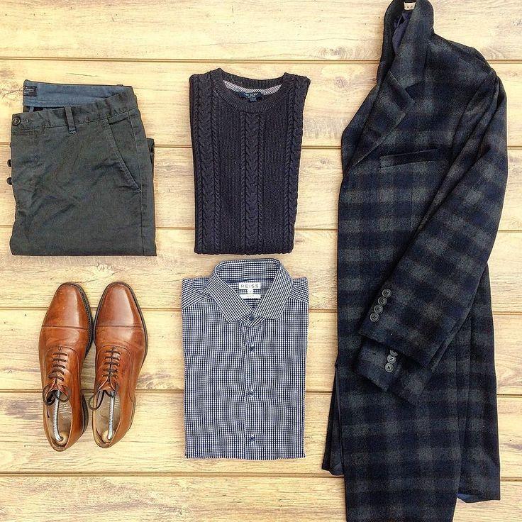 #tngoutfitgrid  @debenhams coat @churchs shoes @reissfashion shirt @tedbaker_london jumper by thenortherngent