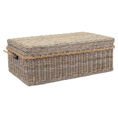 Stow Throws, Media Accessories, And Everyday Essentials In This Wicker  Coffee Table, Showcasing
