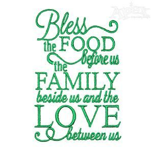 Food, Family And Love Embroidery Designs 4 Part 89