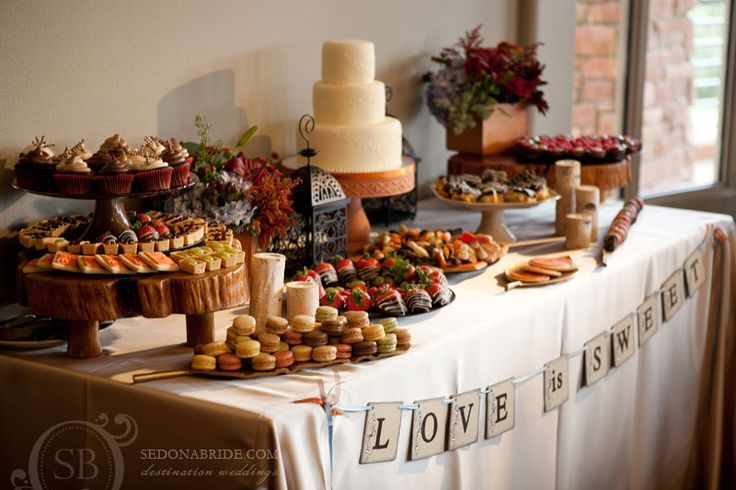 Food tables for a backyard reception snack table for Table cuisine en pin