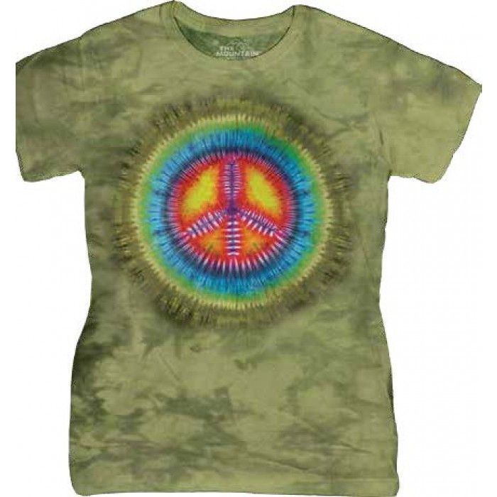 Tricouri The Mountain – Tricou Peace Die Tye Dama