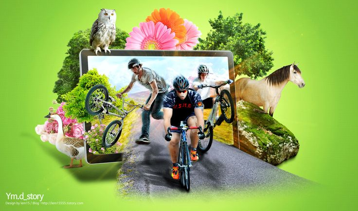Photoshop Artwork #05 -Bike :: Ym.d_story