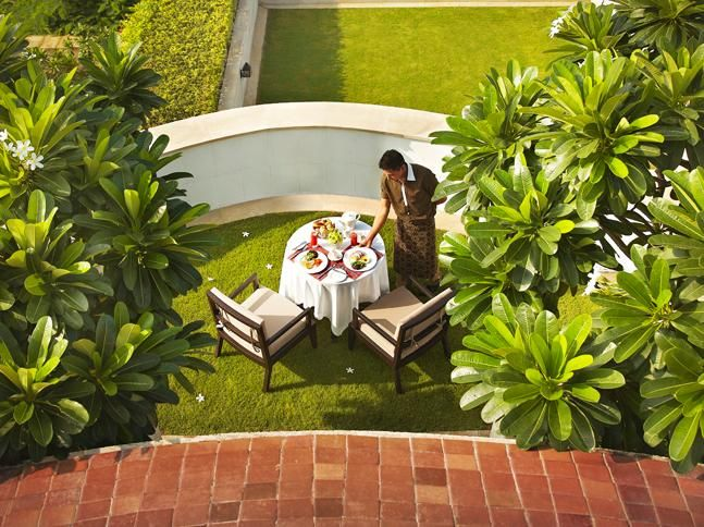 Happiness is when breakfast plans to surprise you in the privy of your room at Vivanta by Taj - Surajkund #SunnySideup  #Outdoors #Breakfast #Food #Delhi #Healthy #PrivateTerrace
