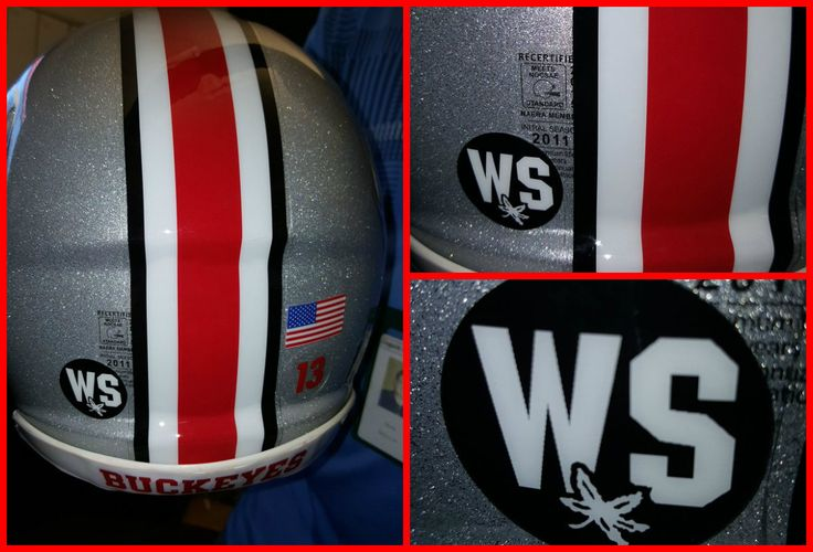 Things to watch for at the Ohio State spring game | WBNS-10TV Columbus, Ohio Tribute to Will Smith on the back of the Buckeye Helmet during today's Spring Game.