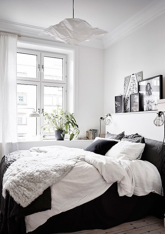 All Black And White Bedroom best 25+ pictures over bed ideas on pinterest | bedroom lamps