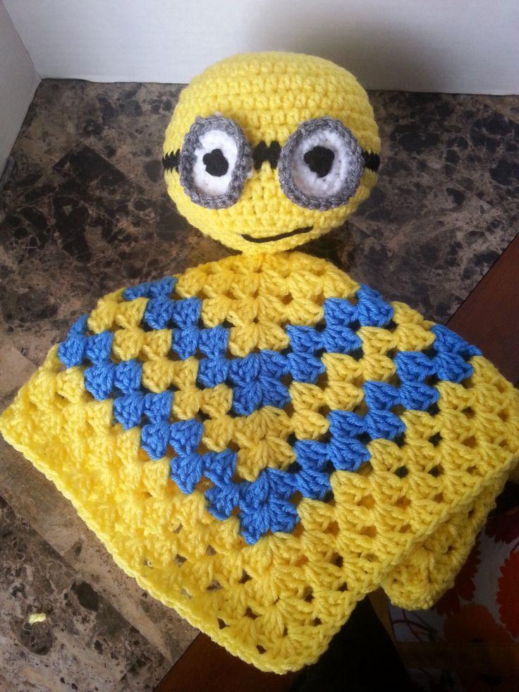 Excelente Patrón De Crochet Minion Púrpura Friso - Manta de Tejer ...