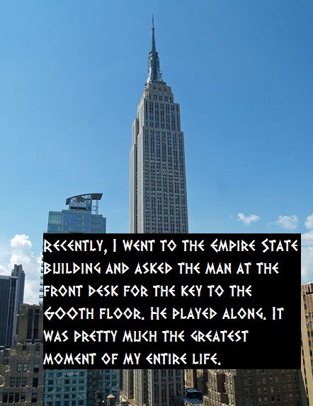 I will do this if I ever go to New York. How many times do you think the guy has been asked about the 600th floor?