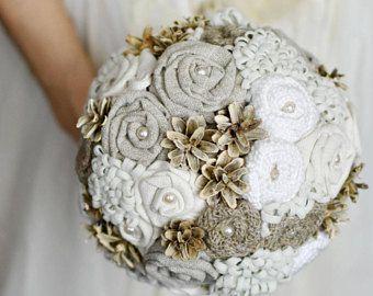 Shabby chic bouquet ramo alternativo recuerdo ramo bouquet de bodas Boho bohemio ramo ramo de Novia de invierno ramo arpillera