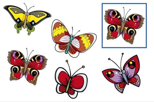(2016-05) Hvilken er den samme  sommerfugl?