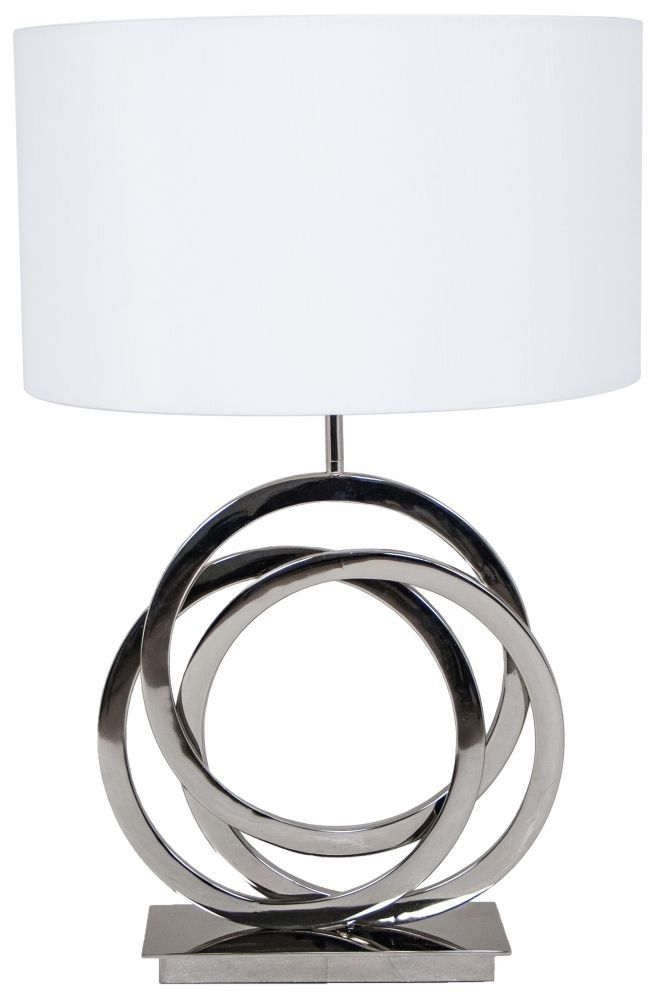 28 best r v astley contemporary lamps images on pinterest r v astley harlan nickel table lamp the harlan nickel lamp will keep you guessing where the circle starts and ends it is a design favourite adding glamour aloadofball Images