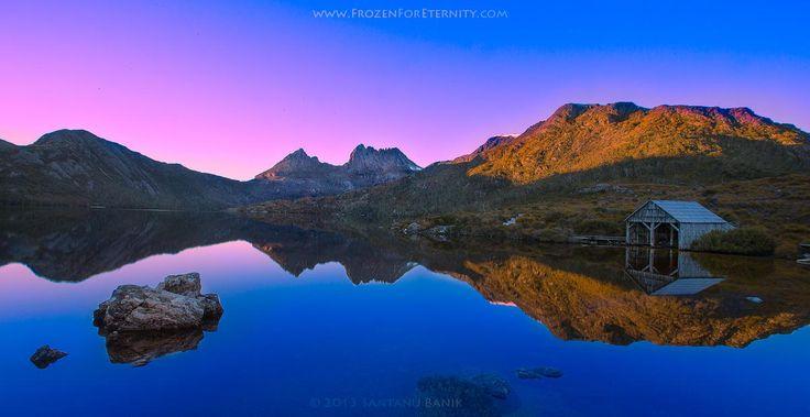 "Dawn colors at Dove Lake and Cradle Mountain - Dawn at Dove Lake, Tasmania  <strong><a href=""http://www.SantanuBanik.com"">Portfolio</a> | <a href=""http://www.FrozenForEternity.com"">Website</a> |  <a href=""https://www.facebook.com/FrozenForEternity"">Facebook</a>  |  <a href=""https://twitter.com/Frozen4Eternity"">Twitter</a></strong>"