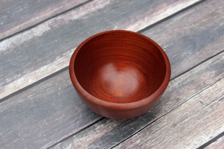 Balsamo Wood Bowl also called Santos Mahogany or Cabreuva, Hand Turned Small Wooden Bowl, Semi Gloss - Food Safe Finish, Small Wood Bowl by SnowDogQuiltWoodwork on Etsy