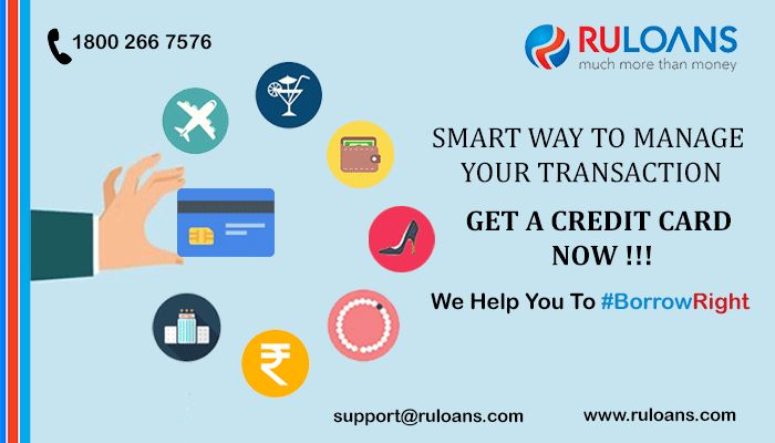 Manage your transactions smartly. Get a #CreditCard - #Ruloans! For more details visit - http://buff.ly/1TrbcOg