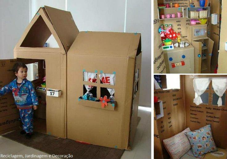 Riciclo scatoloni in cartone - Giochi per bambini
