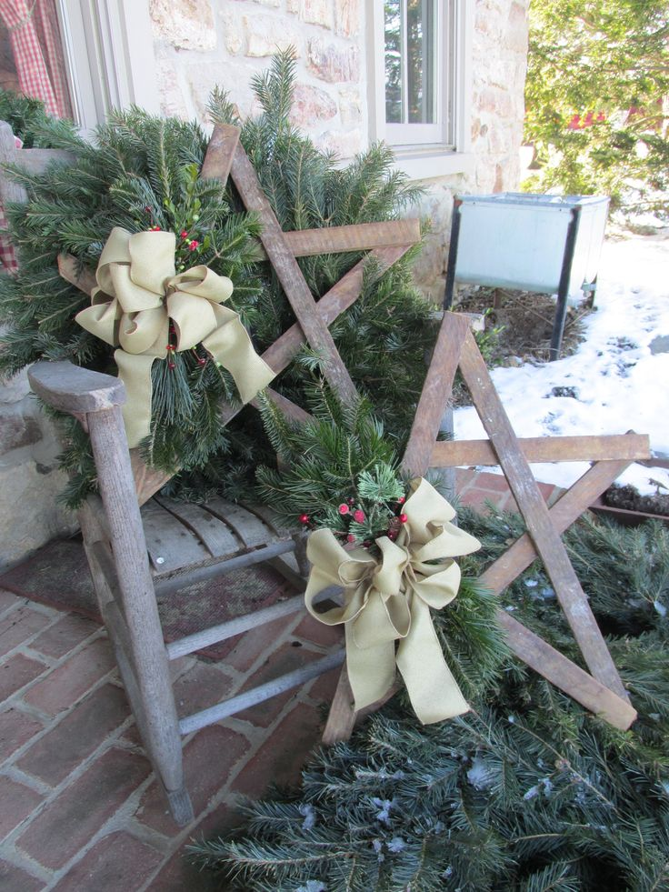 Christmas stars! Great last minute gift idea!! The wooden stars are made with used tobacco lath by an Amish boy from Lancaster county. After winter the wooden stars can be used plain or decorated for any season/occasion. Small $30 Large $40