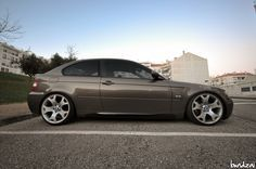 BMW E46 Compact on BMW X5 wheels, 19x9 &19x10.