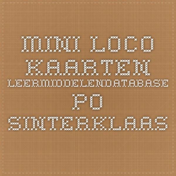 mini loco kaarten - Leermiddelendatabase PO SINTERKLAAS