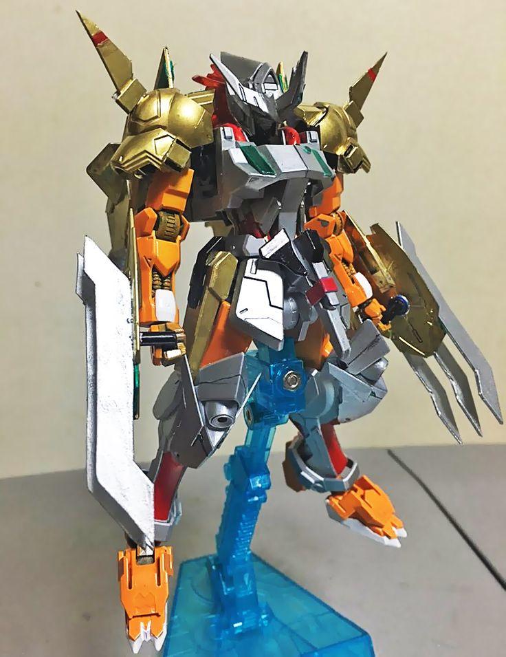 GUNDAM GUY: HG 1/144 Gundam Barbatos Wargreymon X - Custom Build