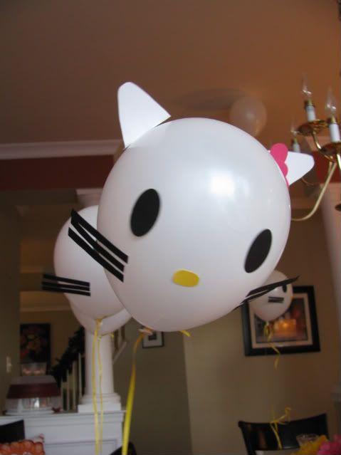 DIY Hello Kitty Balloons!!