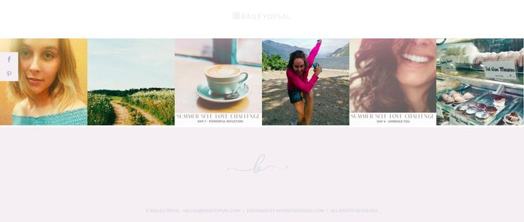 Bailey Opsal | Footer Inspiration