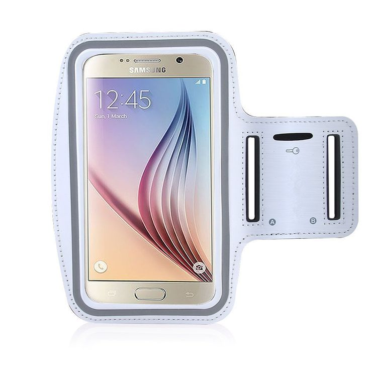 Rejected all traditions S6/S6 Edge/S6 Active Armband,Running Sweat Proof Key Holder(White)