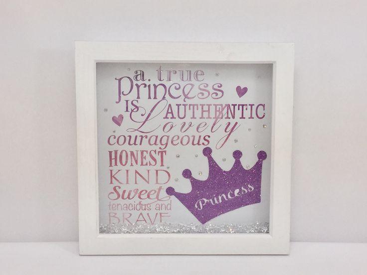 Princess glitter box frame