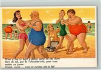 Plattenspieler am Strand und Tanz AK