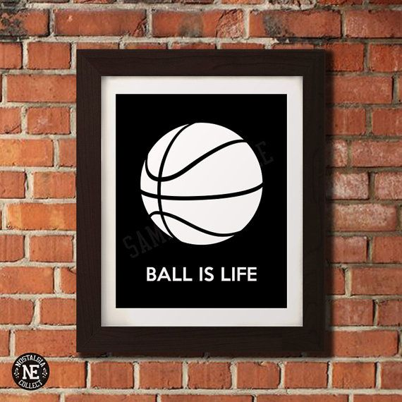 Ball is Life Basketball Motivational Poster  by NostalgiaCollect
