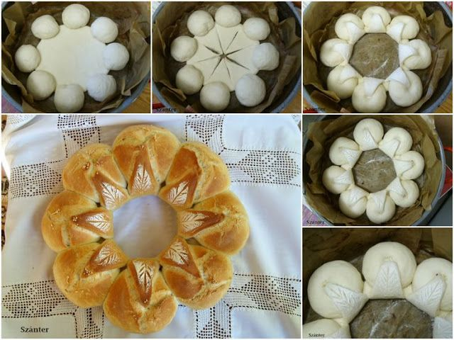 What a simple way to make a decorative pull apart bread! From a Russian blog (it looks like) with great baking tips