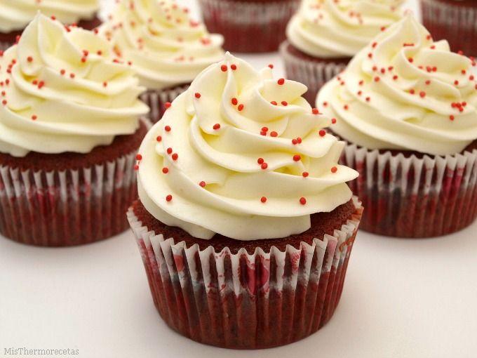 Cupcakes Red Velvet - MisThermorecetas
