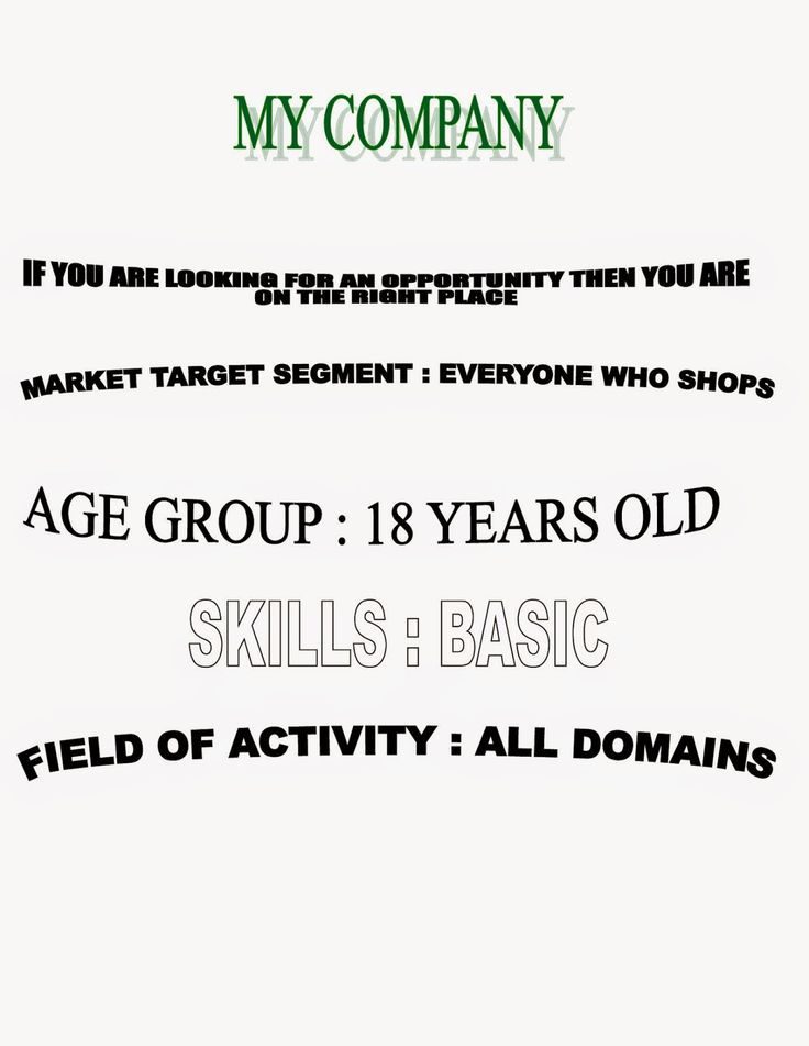 ABOUT MY COMPANY