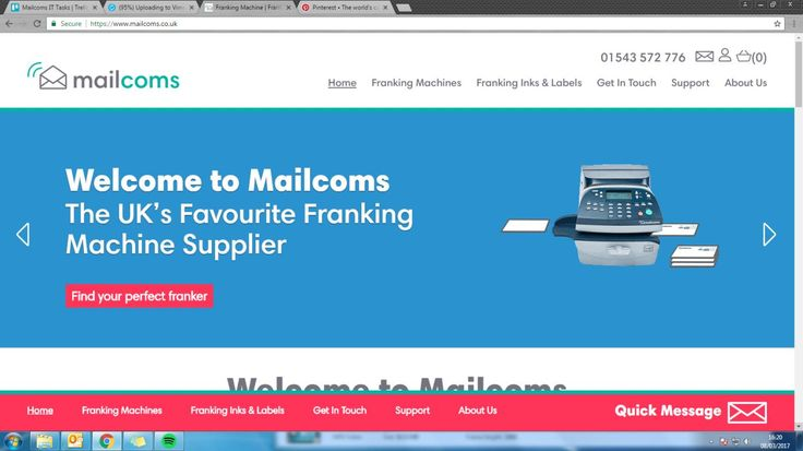 Check out our new website for franking machines, inks, labels, envelopes and postage rates!