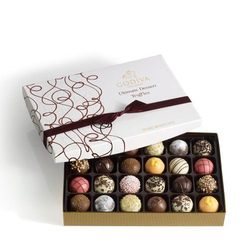 GODIVA Chocolatier  savings deal  Godiva Chocolatier Ultimate Dessert Truffles Gift Box 24 Count